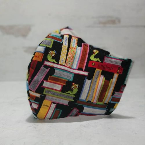 Fabric Face Mask: Bookworms