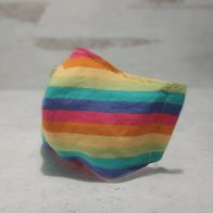 Fabric Face Mask: Pastel rainbow