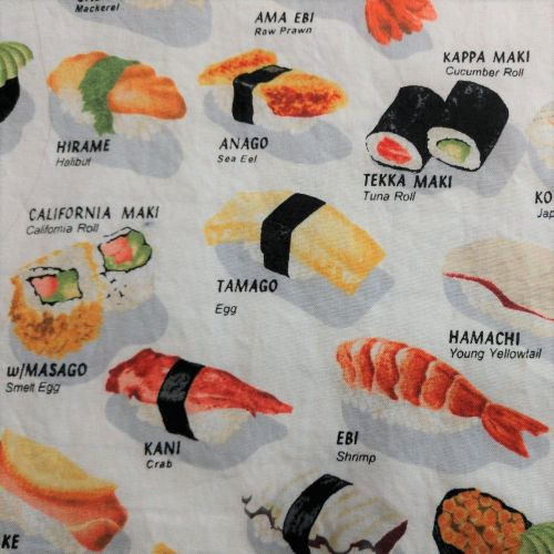Fabric Face Mask: Sushi